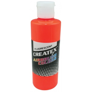 Createx™ Airbrush Paint 2oz Fluorescent Orange: Orange, Bottle, 2 oz, Airbrush