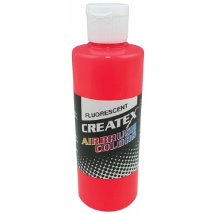 Createx™ Airbrush Paint 4oz Fluorescent Red: Red/Pink, Bottle, 4 oz, Airbrush, (model 5408-04), price per each