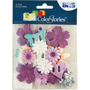 "Blue Hills Studio™ ColorStories™ Handmade Paper Potpourri Purple: Purple, Paper, 2 1/4"", Dimensional, (model BHS10510), price per each"