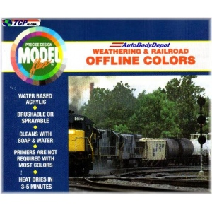 Badger Modelflex Weathering and Railroad Off Line Colors