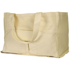 "Heritage Arts™ Watercolor Painter's Bag: Brown, White/Ivory, Canvas, 12""d x 17 1/2""w x 12 1/2""h, Tote Bag, (model HC2642), price per each"
