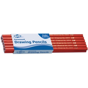 Alvin® Paramount Circle Drawing Pencil 4H: Black/Gray, 4H, Drawing, (model 5054-4H), price per dozen (12-pack)