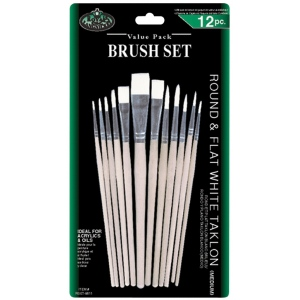 Royal & Langnickel® White Taklon Brush Sets