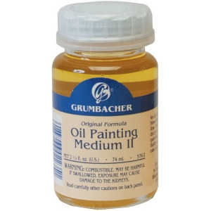 Grumbacher® Slow Drying Oil Painting Medium II: Bottle, 2.5 oz, Oil, (model GB5762), price per each
