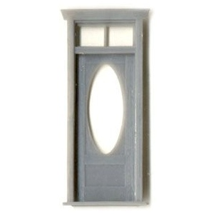 "1/4"" Scale Architectural Components: Door with Oval Window and  Frame, Set of 2"