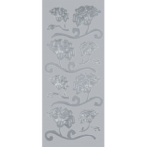 "Blue Hills Studio™ DesignLines™ Outline Stickers Silver #8: Metallic, 4"" x 9"", Outline, (model BHS-DL008), price per pack"