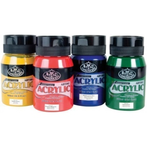 Royal & Langnickel® Essentials™ Acrylic Paint 16.9oz Cadmium Yellow: Jar, Acrylic, (model RAA-5108), price per each