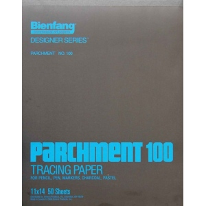 "Bienfang® 11"" x 14"" Parchment Tracing Pad: Pad, 50 Sheets, 11"" x 14"", Tracing, (model 240130), price per 50 Sheets pad"
