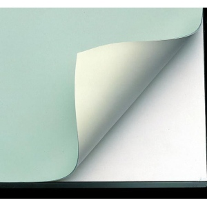 "Alvin® VYCO Green/Cream Board Cover 43 1/2"" x 84"": Green, White/Ivory, Sheet, Vinyl, 43 1/2"" x 84"""