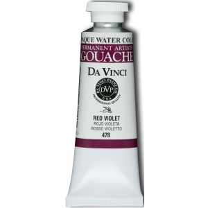Da Vinci Artists' Gouache Opaque Watercolor 37ml Red Violet: Purple, Red/Pink, Tube, 37 ml, Gouache, Watercolor, (model DAV478), price per tube
