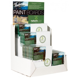 Fredrix® PRO Paint Boards™ Belgian Linen Display: White/Ivory, Sheet, Linen, Various, Paint Board, (model T9945D), price per each