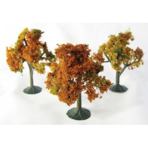 "Wee Scapes™ Architectural Model Autumn Trees 3-Pack: Multi, Wire, 3-Pack, 2 1/4"" - 2 1/2"", Tree, (model WS00324), price per 3-Pack"