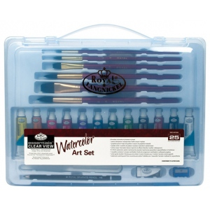 Royal & Langnickel® Essentials™ Clear View Watercolor Painting Set: Multi, Watercolor, (model RSET-ART3203), price per set