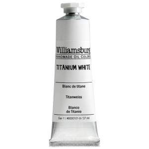 Williamsburg® Handmade Oil Paint 37ml Titanium White: White/Ivory, Tube, 37 ml, Oil, (model 6000101-9), price per tube