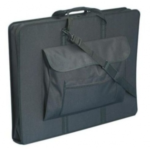 "Prestige™ Elegance™ Heavy-Duty Art Portfolio 23"" x 31"": Black/Gray, 4"", Nylon, 23"" x 31"""