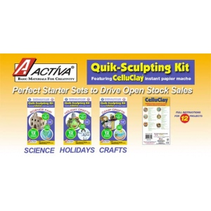 Activa Celluclay Quik Sculpt Value Pack, Pack of 6