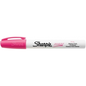 Sharpie® Oil Paint Marker Medium Pink: Red/Pink, Paint, Medium Nib, (model SN35555), price per each