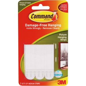 Command White Medium Hanging Strips
