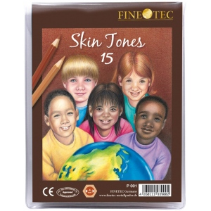 Finetec 15-Color Skin Tones Pencil Set: Multi, (model FTP001), price per set
