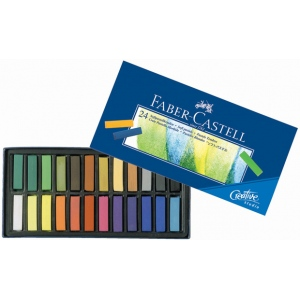 Faber-Castell® Creative Studio Soft Pastel 24-Color Set: Multi, Stick, Soft, (model FC128224), price per set