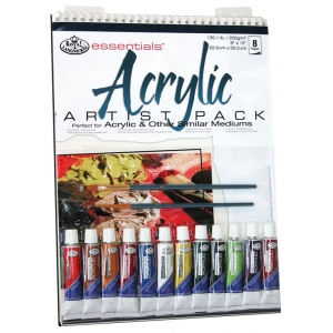 "Royal & Langnickel® Essentials™ Acrylic Paint Artist Pack: Wire Bound, Multi, Pad, 10 Sheets, 9"" x 12"", Acrylic, (model RD505), price per 10 Sheets"