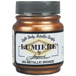 Lumiere® Pigmented Acrylic Paint Metallic Bronze: Metallic, Jar, 2.25 oz, Acrylic, (model J565), price per each