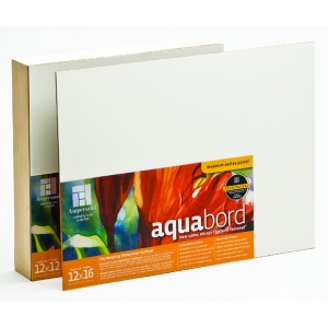 "Ampersand 1/8"" Thick Aquabord: 6"" x 6"", Case of 10"
