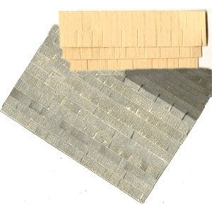 "1/4"" Scale Architectural Components: Shingle-Textured Paper, Card Stock - 70 Square Inches"