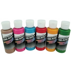 Createx™ Airbrush Tropical 6-Color Set: Multi, Bottle, 2 oz, Airbrush, (model 5810-00), price per set