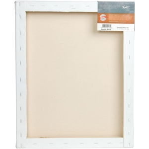 "Fredrix® PRO Dixie 16 x 16 Stretched Canvas Gallerywrap Bar 1-3/8"": White/Ivory, Sheet, 1 3/8"", Cotton, 1 3/8"", 16"" x 16"", Stretched, (model T49107), price per each"
