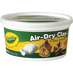 Crayola® Air-Dry Clay 2.5lb White: White/Ivory, 2 1/2 lb, 2.5 lb, Air Dry, Craft, (model 57-5050), price per each