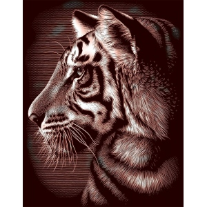 "Reeves™ Scraperfoil™ Gold Foil Tiger: Multi, 8"" x 10"", (model PPCF29), price per each"
