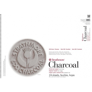 Strathmore® 500 Series Assorted Tints Wire Bound Charcoal Pad