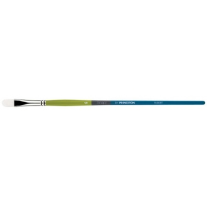 Princeton™ Snap! White Taklon Long Handle Brush Watercolor and Acrylic Brush Filbert 8: Long Handle, Taklon, Filbert, Acrylic, Watercolor, (model 9800FB-8), price per each