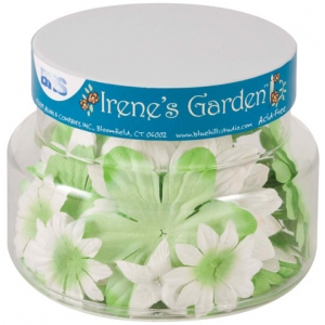 "Blue Hills Studio™ Irene's Garden™ Jar O'Blooms Greens: Green, Paper, 2 1/2"", Dimensional, (model BHS805), price per each"
