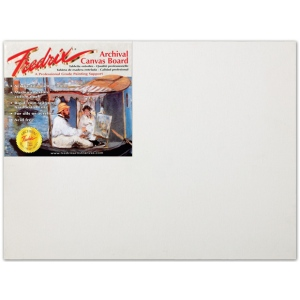 "Fredrix® PRO Series 9 x 12 Archival Cotton Canvas Board: White/Ivory, Panel/Board, Cotton, 9"" x 12"", Archival, (model T3410), price per each"