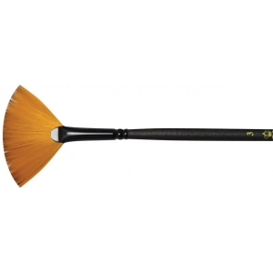 Royal & Langnickel® Majestic Taklon Acrylic and Oil Brush Fan 1: Best, Long Handle, Taklon, Fan, Acrylic, Oil