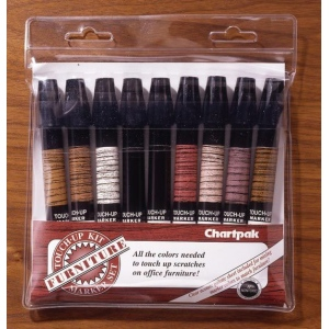 Chartpak® Furniture Touch-Up Marker Set: Multi, Paint, Tri-Nib, (model OF9), price per set