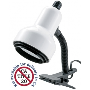 "Alvin® Clip Light White: White/Ivory, Under 10"", Clip, 26-75w, (model CLC400-D), price per each"