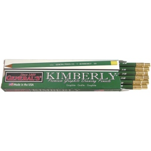 Kimberly® Drawing Pencil 2H: Black/Gray, 2H, Drawing, (model 525G-2H), price per dozen (12-pack)