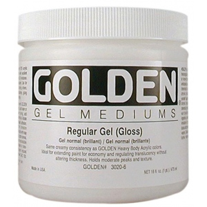 Golden® Regular Gel Medium Gloss 8 oz.: Matte, 236 ml, 8 oz, Gel, (model 0003020-5), price per each