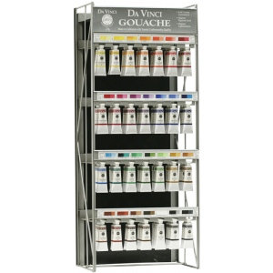 Da Vinci Artists' Gouache Opaque Watercolor Paint Display: (56) 37ml Tubes of 28 Colors