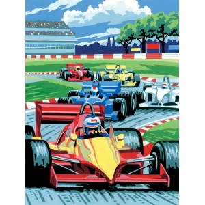 "Royal & Langnickel® Painting by Numbers™ 8 3/4 x 11 3/8 Junior Small Set Grand Prix: 8 3/4"" x 11 3/8"", (model PJS12), price per set"
