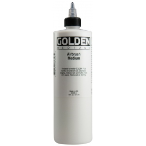 Golden® Airbrush Medium 16 oz.: 16 oz, 473 ml, Airbrush, (model 0003535-6), price per each