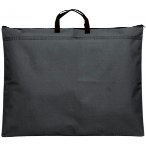 "Prestige™ Student™ Series Black Soft-Sided Portfolio 23"" x 31"": Black/Gray, 1/2"", Nylon, 23"" x 31"""