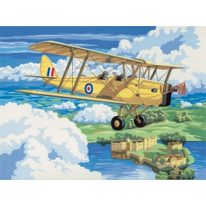 "Royal & Langnickel® Painting by Numbers™ 12 3/4 x 15 3/4 Adult Set Nostal Plane: 12 3/4"" x 15 3/4"", (model PAL4), price per set"