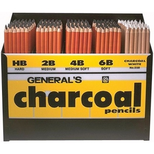 General Charcoal Pencil Display