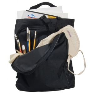 "Heritage Arts™ ArtMate™ Heavy-Duty Tote Bag: Black/Gray, Nylon, 3 1/2""d x 14""w x 17""h, (model AM300), price per each"