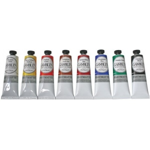Gamblin Artists' Grade FastMatte Alkyd Oil Color 37ml Titanium White: White/Ivory, Tube, 37 ml, Alkyd Oil, (model GF1810), price per tube