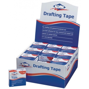 "Alvin® Drafting Tape Display: White/Ivory, Drafting, 3/4"", (model 2300D), price per each"